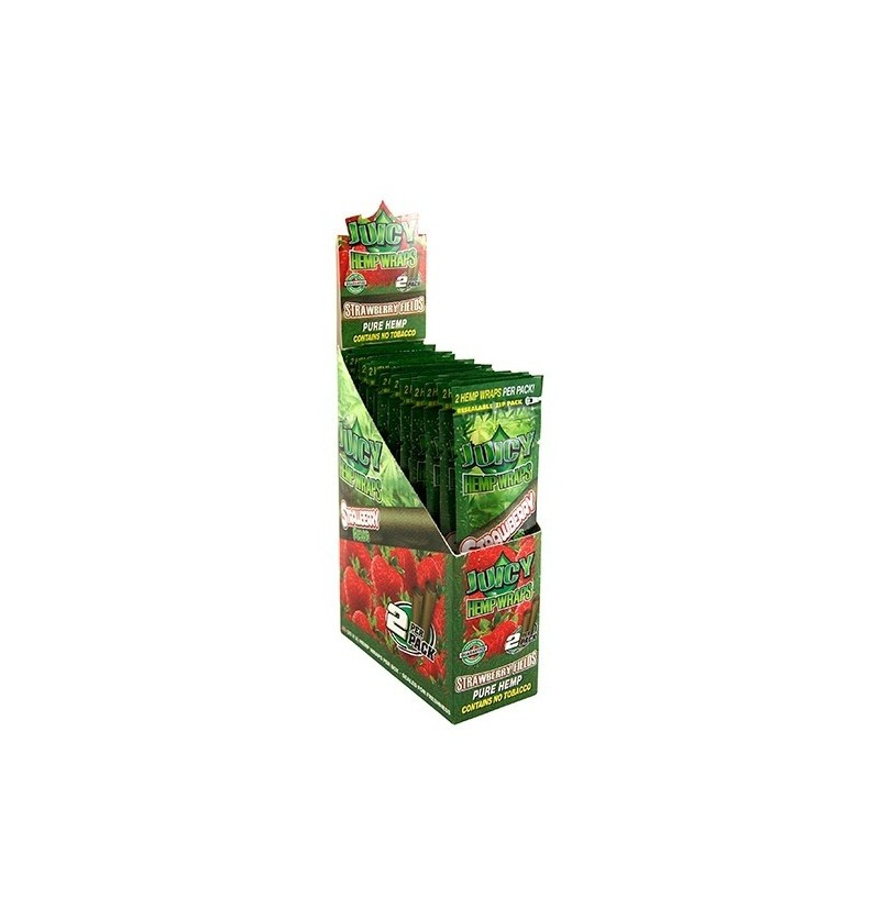 BLUNTS JUICY HEMP WRAPS RED 25x2UN (FRESA)