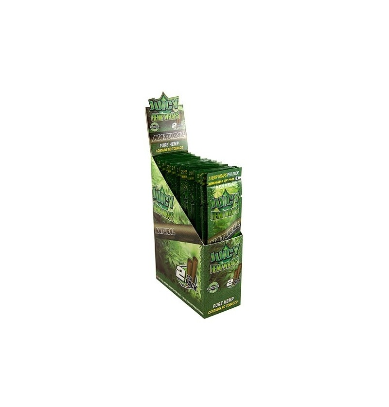 BLUNTS JUICY HEMP WRAPS ORIGINAL 25x2UN (NATURAL)